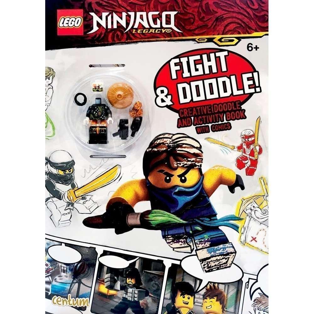 LEGO Ninjago Fight and Doodle Colour Activity Book + Minifigure - The  Minifigure Store - Authorised LEGO Retailer