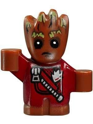 Lego Super Heroes Baby Groot Minifigure Zipper Version