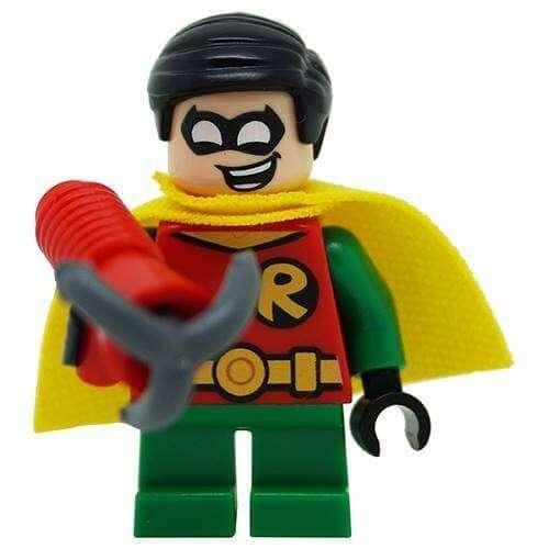 Genuine Lego DC Classic Robin *SHORT LEGS* Minifigure SPLIT from 76062  Mighty Micros Set